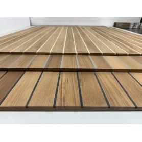 Panel prefabricado cubierta de teka