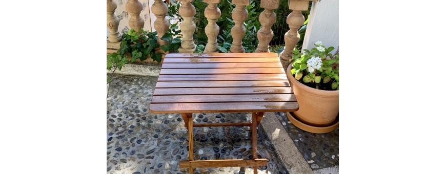 Muebles de exterior en Teca